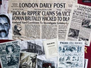 The London Post November 9th 1888 Clippings of the Fifth and final victim of the notorious serial ki