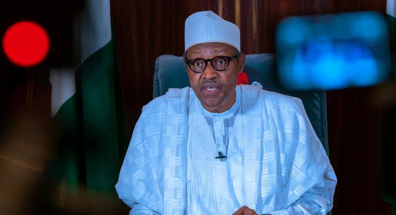 President Muhammadu Buhari delivering his speech delivered October 1st, 2020