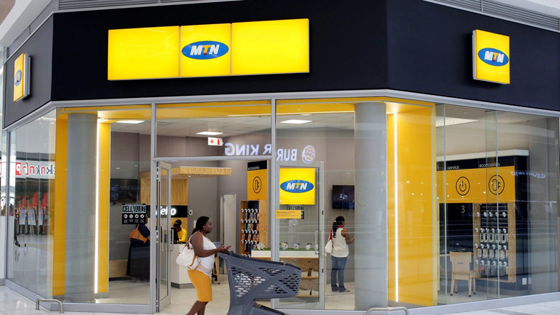 A typical MTN shop. The South African firm has announced a closure of its Nigeria operations until further notice (NAN)