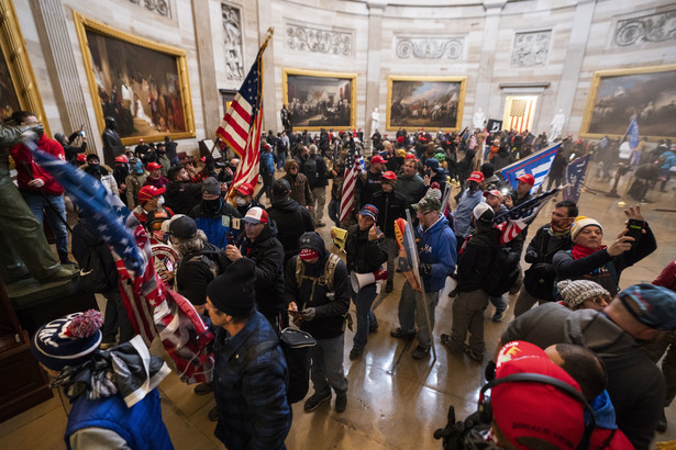 Demonstranci na Kapitolu