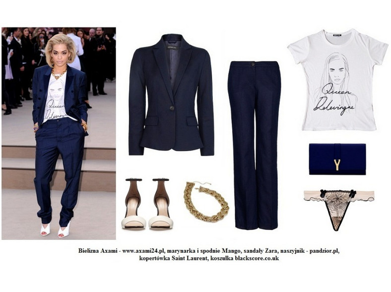 Rita Ora w modnym spodnium