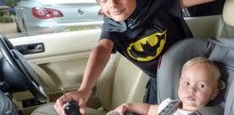 5-latek uratował dziewczynkę z rozgrzanego auta