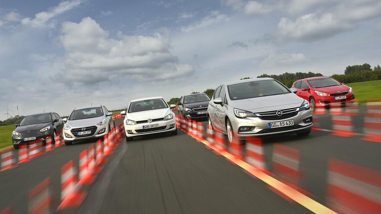 Porównanie - nowa Astra kontra reszta świata: Ford Focus, Hyundai i30, Kia cee'd, Peugeot 308 i VW Golf