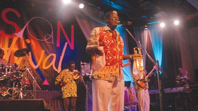 In 1954 Olaiya formed his band, the Cool Cats, playing popular highlife music. His band was chosen to play at the state ball when Queen Elizabeth II of the United Kingdom visited Nigeria in 1956, and later to play at the state balls when Nigeria became independent in 1960 and when Nigeria became a republic in 1963. [TheGuardian]