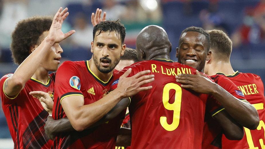 Radość reprezentantów Belgii
