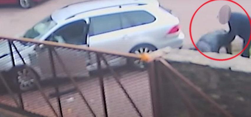 Pijak wyrżnął w mur w Sopocie! Wszystko się nagrało