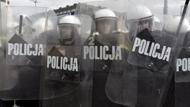 Policja podczas Marszu Równości w Gdańsku