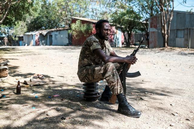 Etiopijski vojnik u Danši