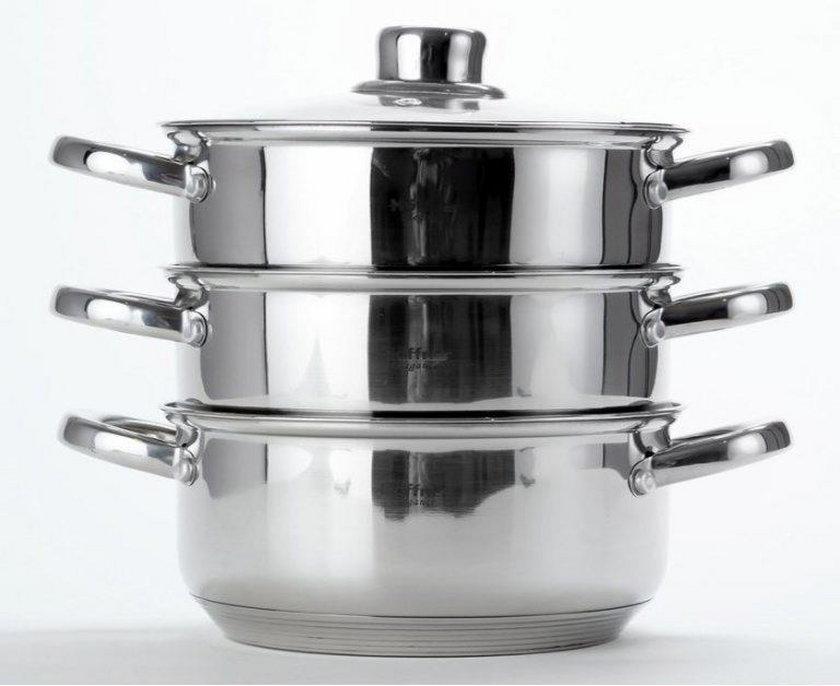 Edelhoff Garnek / garnki do gotowania na parze 18 cm EH-8902