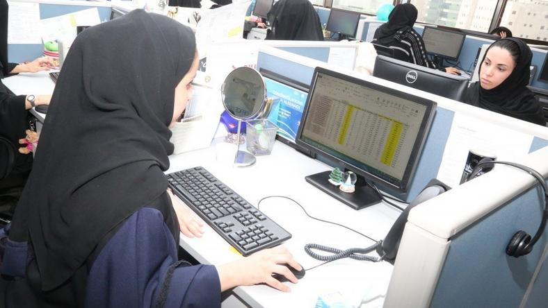 The two-year-old All-Women Business Process Services and IT Centre is part of the Saudi government's program to expand the Saudi economy from energy into knowledge work