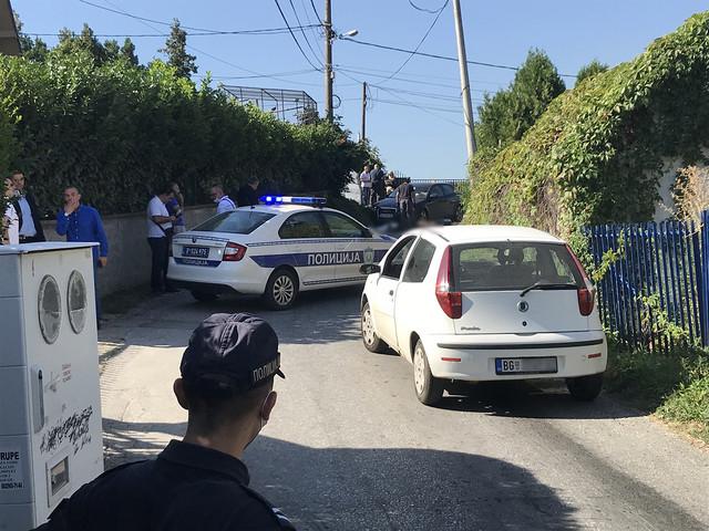 Uviđaj nakon ubistva u Kaluđerici