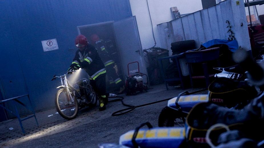 Pożar rozdzielni w Gorzowie