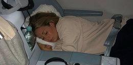 Rozenek przespała cały lot do USA. Nie wstała w dobrym humorze...