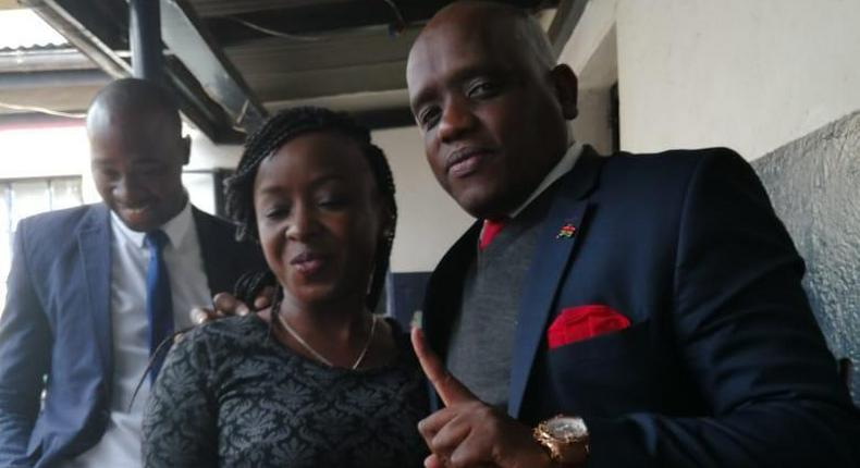 Jacque Maribe visits Dennis Itumbi after arrest by DCI detectives
