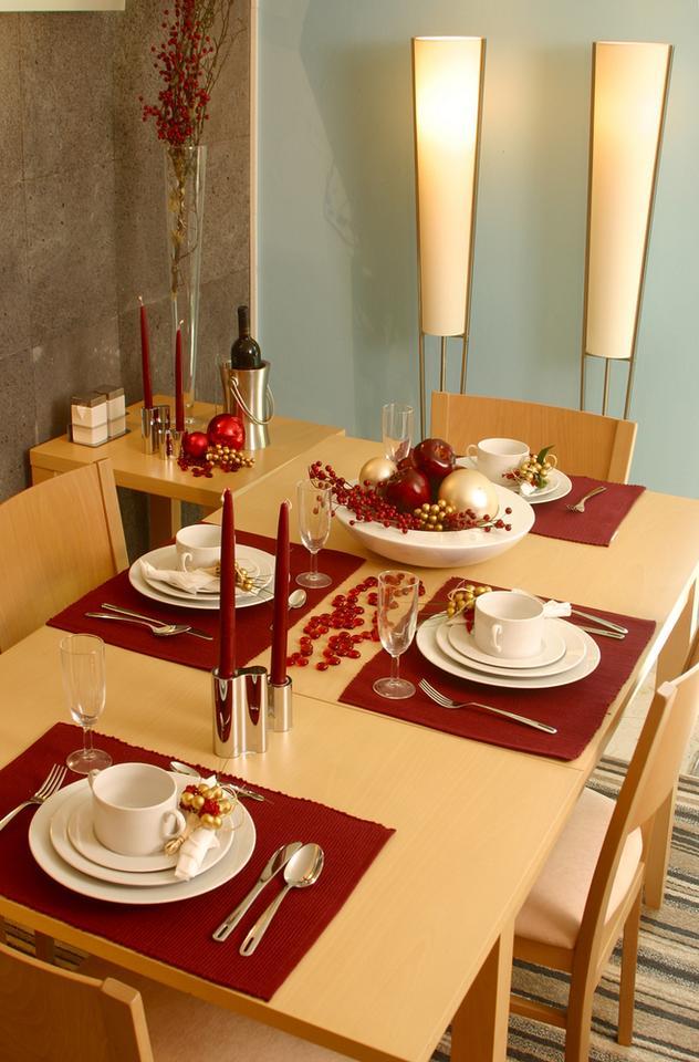 Ozdobny stół na święta