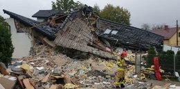 Potężny wybuch gazu w Kobiernicach. Nie żyje 70-letnia kobieta