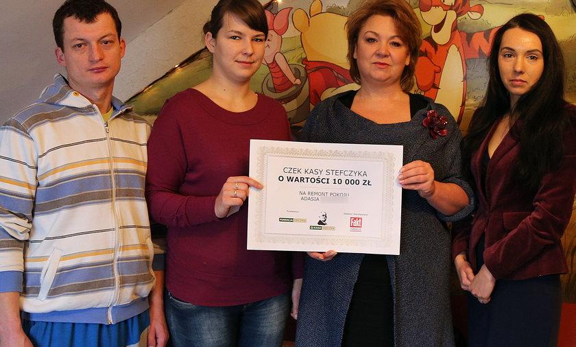 Kraków. Adaś otrzymał 10 tysięcy złotych na remont pokoju!