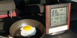 Będzie gorąco! Usmażysz jajka w samochodzie!