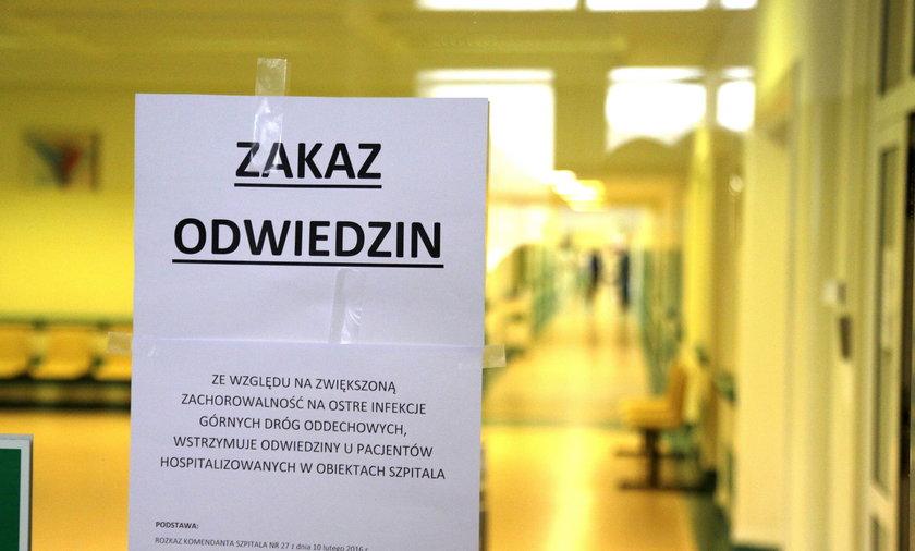 Zakaz odwiedzin w szpitalu wojskowym przy ul. Weigla we Wrocławiu