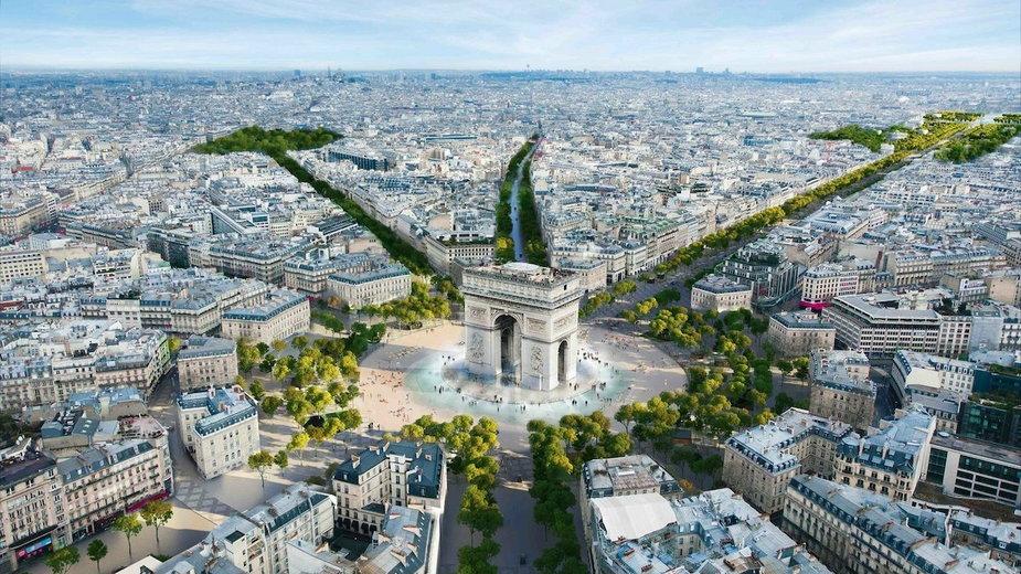 Pola Elizejskie w Paryżu jak ogromny park. Wkrótce start przebudowy
