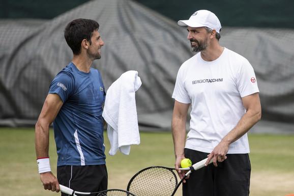 Novak Djokovic and Goran Ivaneshevich