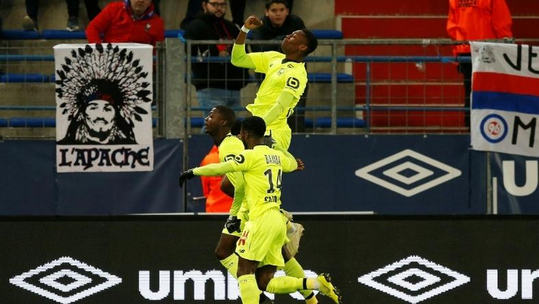 Lille's Ivorian forward Nicolas Pepe on the mark at Caen