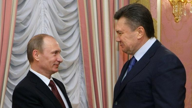 Władimir Putin i Wiktor Janukowycz