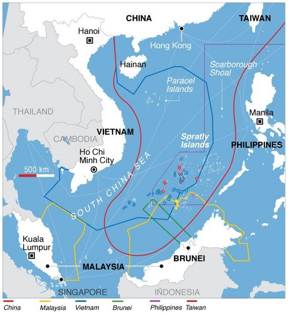 Ostrva Spretli i Paracel su sporna teritorija oko koje se bore zemlje u regionu