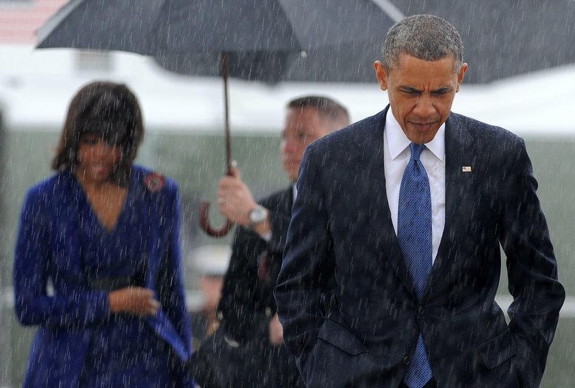 Barack Obama na mszy ku czci ofiar wybuchów