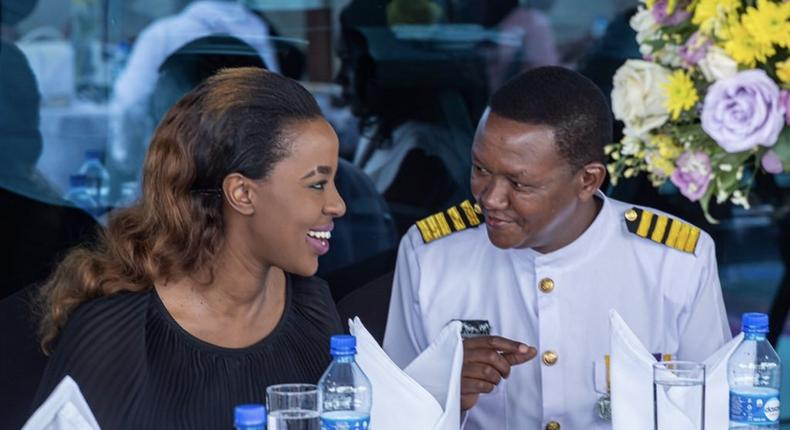 Governor Alfred Mutua and Lillian Nganga