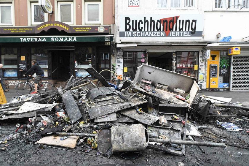 Uliczne walki w Hamburgu