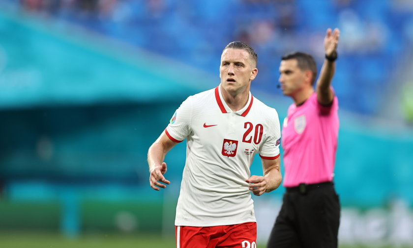 Pilka nozna. Euro 2020. Polska - Slowacja. 14.06.2021