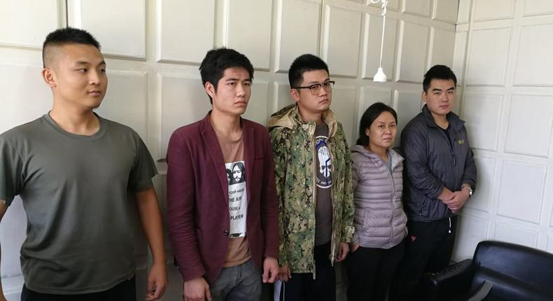 File photo: 5 Chinese Nationals arrested with Dangerous items threatening national security