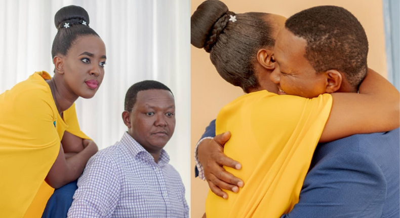 Governor Alfred Mutua and Lillian Nganga during their Happy Days as a Couple