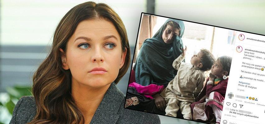 """Anna Lewandowska przejęta sytuacją w Afganistanie. """"Pół nocy nie spałam"""""""