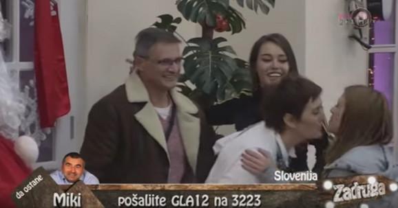 Ana Korać sa roditeljima prilikom njihove posete