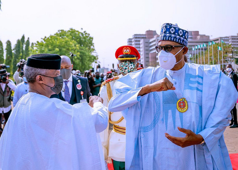 President Buhari and Vice President Osinbajo at the Armed Forces Remembrance Day event of Friday, January 15, 2021 (Tolani Alli)