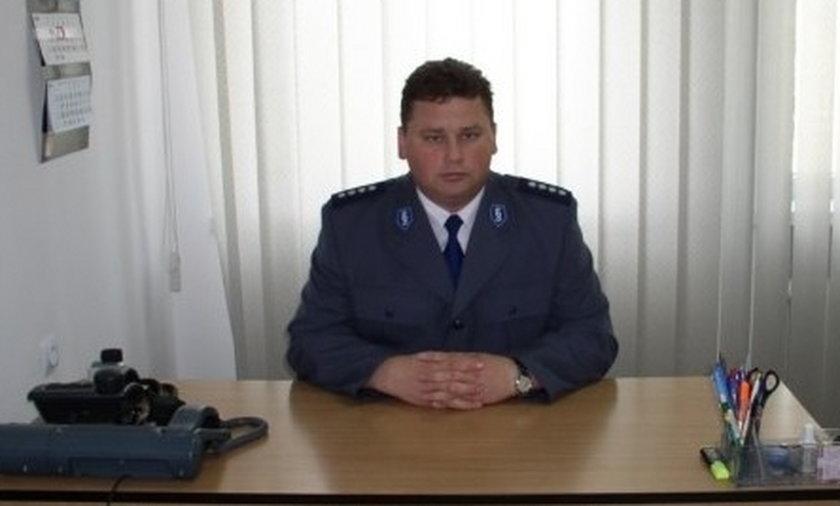 Marek Lewandowski - zastępca Komendanta Policji w Żurominie