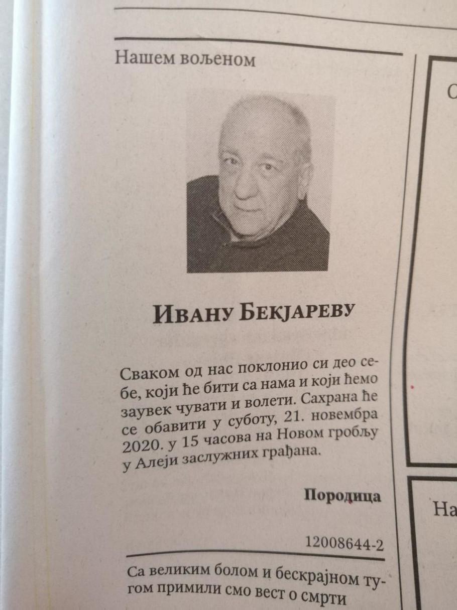 Pomen Ivanu Bekjarevu
