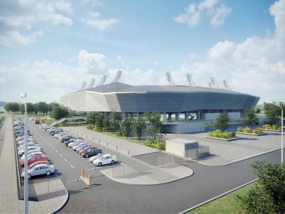 Stadion se sastoji od dve funkcionalno zavisne celine: terena i gledališta