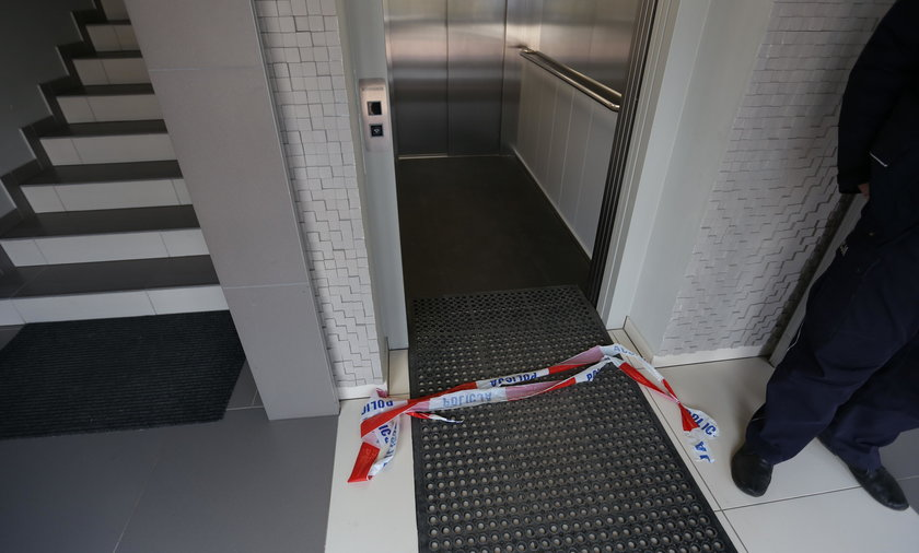 Spadła winda