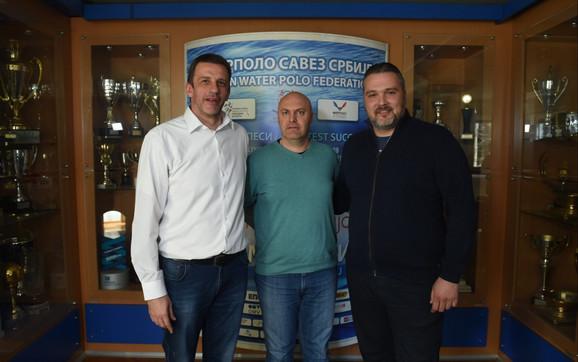 Viktor Jelenić, predsednik Vaterpolo saveza, Igor Velimirović urednik sportske rubrike