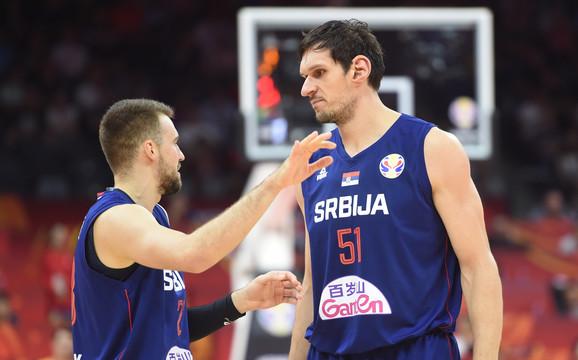 Marko Gudurić i Boban Marjanović na meču Srbija - Italija
