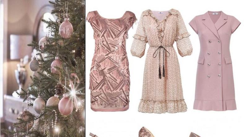 Dla romantyczek naturalnym wyborem jest sukienka w kolorze pudrowego różu. W tym sezonie dostępna w kilku wariantach: o prostym kroju z błyszczącymi, cekinowymi dekoracjami, zwiewna z delikatnym wzorem i falbanką oraz ze srebrnymi guzikami. Do tego welurowe lub błyszczące szpilki. NA ZDJĘCIU: sukienki - Midori Feminine Fashin/midori.pl, buty - Menbur/menbur.pl.
