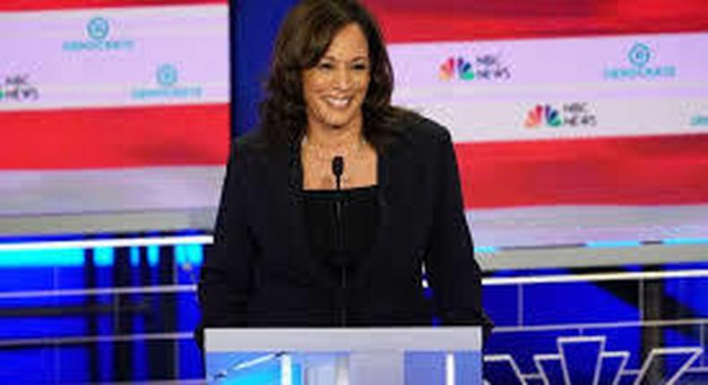 Harris makes the case that Biden should pass the torch to her