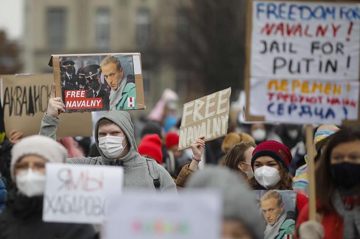 Rusija, protest, Navaljni