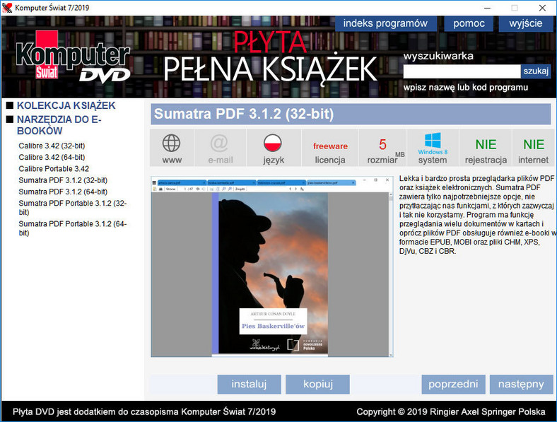 Płyta Komputer Świata: 300 e-booków na wakacje