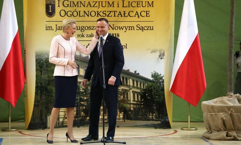 Para prezydencka w I Liceum Ogólnokształcącym im. Jana Długosza w Nowym Sączu