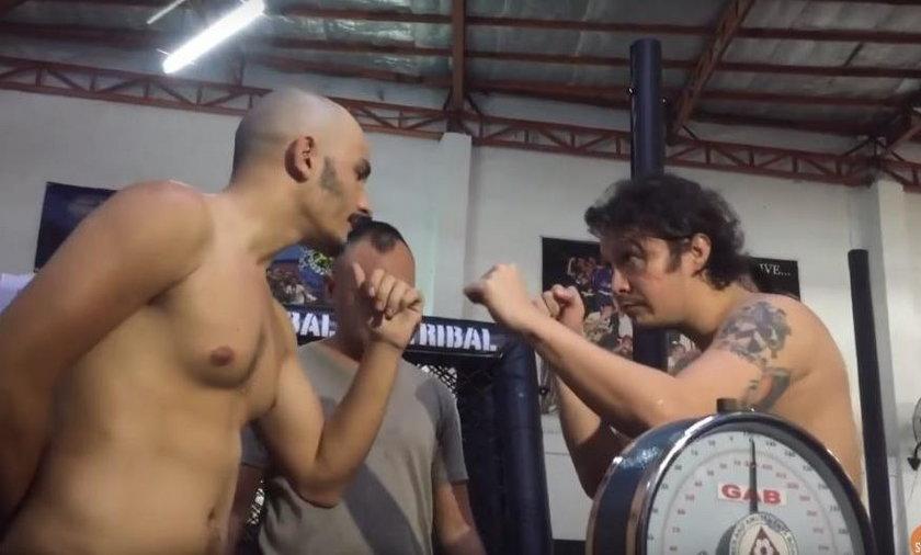 Baron Geisler oblany moczem podczas ważenia przed walką MMA