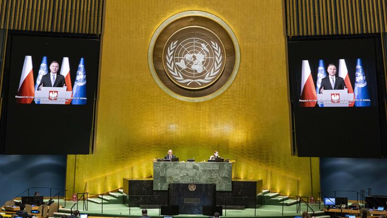 """Prezydent Andrzej Duda w debacie generalnej 75. Sesji Zgromadzenia Ogólnego ONZ zaapelował do przywódców o współtworzenie """"globalnej solidarności"""""""